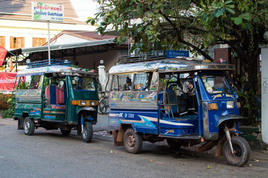 Tuk Tuks in Vientiane