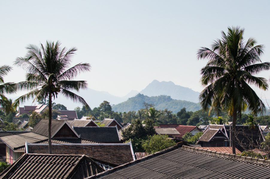 Above the roofs of Luang Prabang