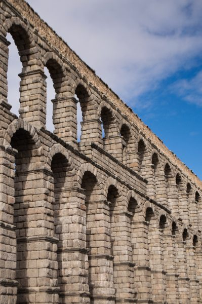The Roman Aqueduct in Segovia