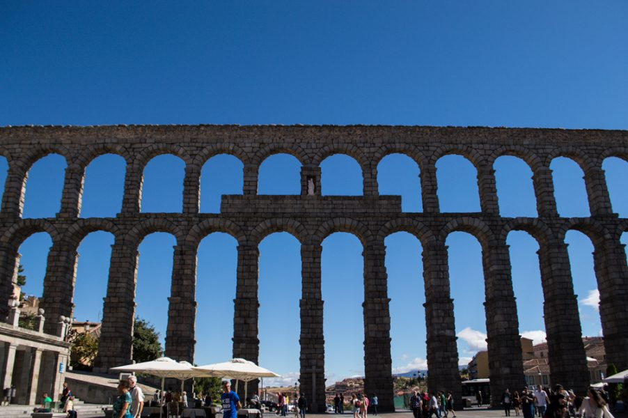 The Roman Aqueduct of Segovia Spain