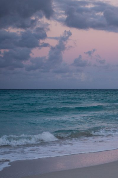 Beach at sunset in Varadero