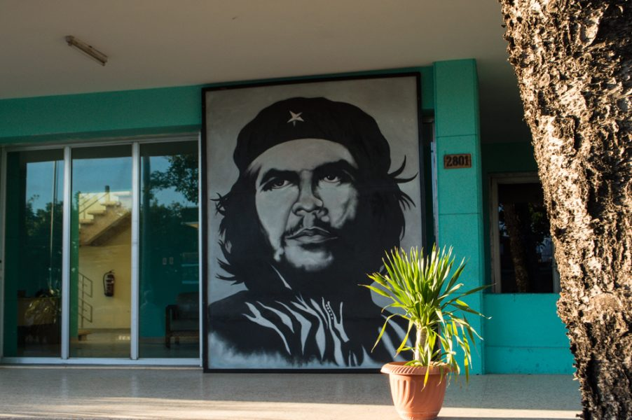 Portrait of Che by the entrance