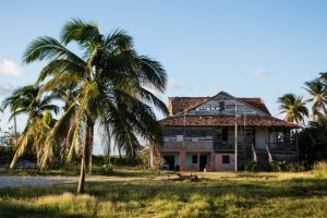 Ruined house by the beach in Varadero