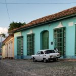 A cobblestone street in Trinidad