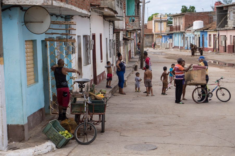 Street vendors in Trinidad