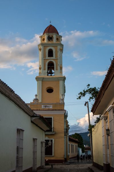 The bell tower of the Iglesia y Convento de San Francisco