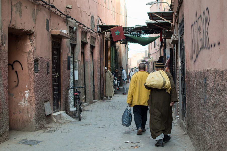 Exploring medina in Marrakech