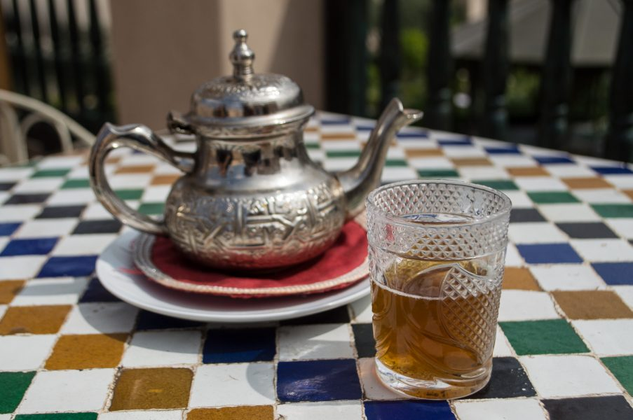 Mint tea at Le Jardin Secret
